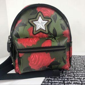 Coach Mini Backpack camo rose Charlie Bag